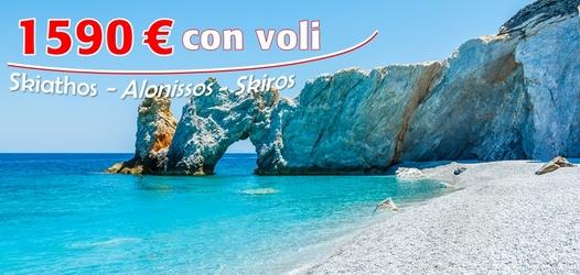(Italiano) Ultimi posti 11/25 agosto Grecia Sporadi: 1590 € con voli!