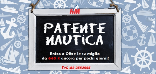 Iscriviti ai corsi Patente Nautica con 50 € di sconto